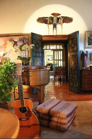 Joni Mitchell Library Among The Canvases Behind The